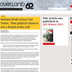 Related: Islam + Left - Michael Brull