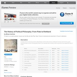 The History of Political Philosophy: From Plato to Rothbard - Download free content from Mises Institute
