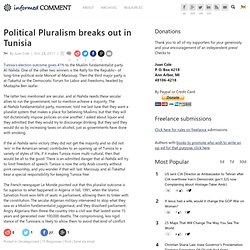 Political Pluralism breaks out in Tunisia