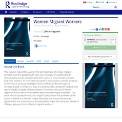 Women Migrant Workers: Ethical, Political and Legal Problems (Hardback)