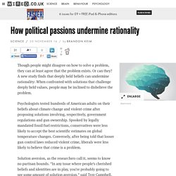 How political passions undermine rationality