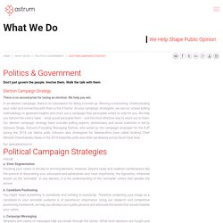 Political & Election Campaign Strategies by Astrum