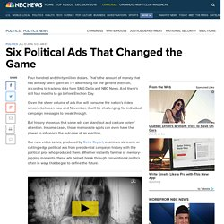 Six Political Ads That Changed the Game
