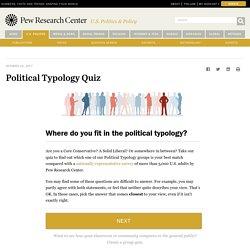 Political Typology Quiz