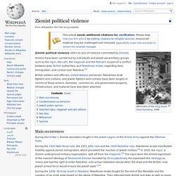 Zionist political violence - Wikipedia