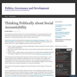Thinking Politically about Social Accountability