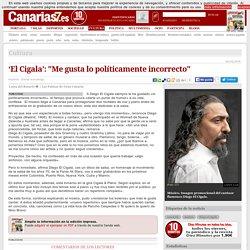 Cultura. 'El Cigala': 'Me gusta lo políticamente incorrecto'