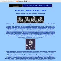 POLITICI - L'ARTE DI DOMINARE LE FOLLE