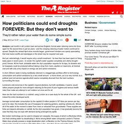 How politicians could end droughts FOREVER: But they don't want to