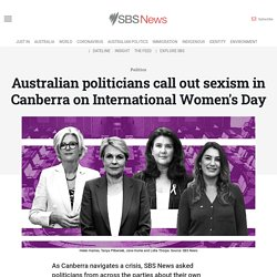 Australian politicians call out sexism in Canberra on International Women's Day