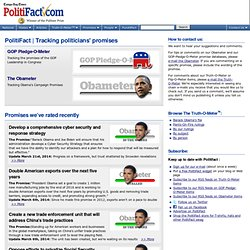 The Obameter: Tracking Barack Obama's Campaign Promises
