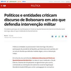 4/19/20: Bolsonaro gives widely criticized speech defending military intervention from the back of a pick-up truck