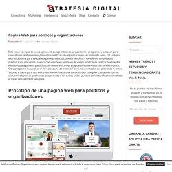 Página Web para políticos y organizaciones - Strategia Digital