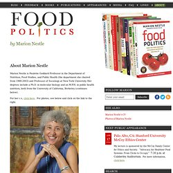 About Marion Nestle