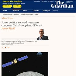 Power politics always drives space conquest. China's coup is no different