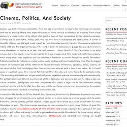 Cinema, Politics, And Society - filmandfinearts