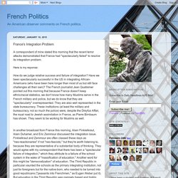 French Politics: France's Integration Problem