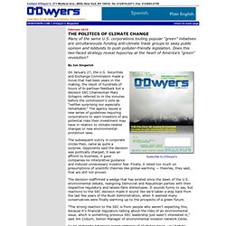 The Politics of Climate Change - O'Dwyer's Magazine, February 2010