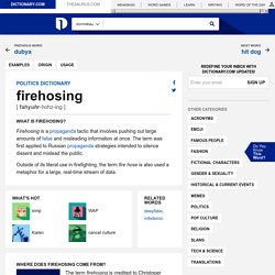 Politics Meaning Of Firehosing