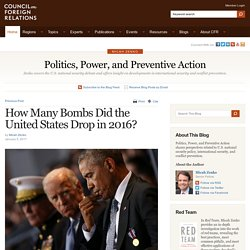 Politics, Power, and Preventive Action How Many Bombs Did the United States Drop in 2016?