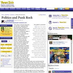 Politics and Punk Rock