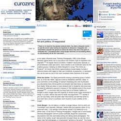 Art and politics: A reappraisal - Victor Burgin, Hilde Van Gelder