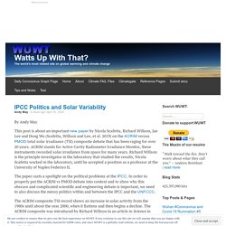 IPCC Politics and Solar Variability