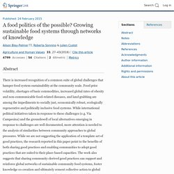 Connecting best practices of local communities as a counterweight to the industrial food system