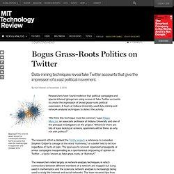 Bogus Grass-Roots Politics on Twitter