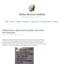 Politifact tells us about American politics and science. We should listen. - Fabius Maximus website