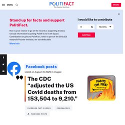 No, the CDC did not 'quietly adjust' US coronavirus deaths