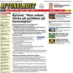 """Bylund: """"Man måste tänka på politiken på hemmaplan"""""""