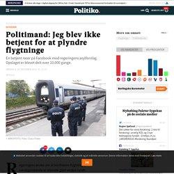 Politimand: Jeg blev ikke betjent for at plyndre flygtninge