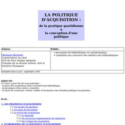 la politique d'acquisition.htm