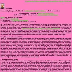 France, politique, Irlandais de Vincennes, écoutes administratives, affaires Paul Barril