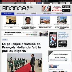 La politique africaine de François Hollande fait le pari du Nigeria