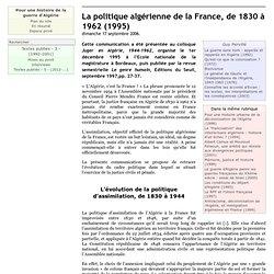 La politique algérienne de la France, de 1830 à 1962 (1995)