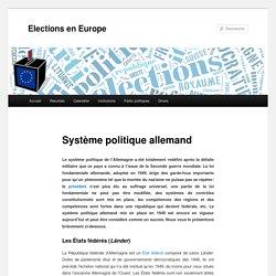 Système politique allemand - Elections en Europe