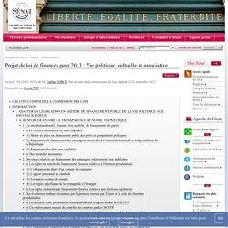 Projet de loi de finances pour 2013 : Vie politique, cultuelle et associative