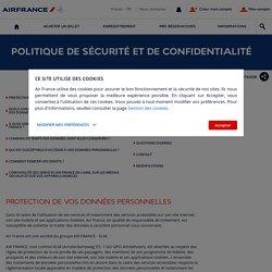 Politique de sécurité et de confidentialité