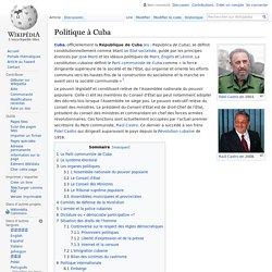 Politique à Cuba