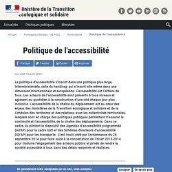 Ministère de la transition écologique et solidaire -Politique de l'accessibilité - 15 avril 2019