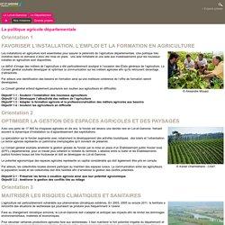 [Département du Lot-et-Garonne] - La politique agricole départementale