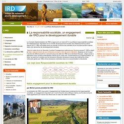 La politique développement durable