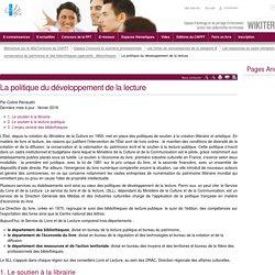 La politique du développement de la lecture (vitrine.La politique du développement de la lecture) - CNFPT