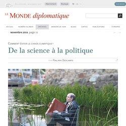 Climat, de la science à la politique, par Philippe Descamps (Le Monde diplomatique, novembre 2015)