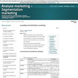 La politique de distribution marketing