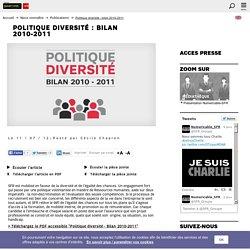 Politique diversité : bilan 2010-2011