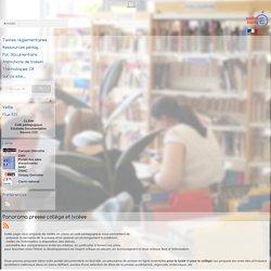 EMI et politique documentaire - Panorama presse collège et lycées