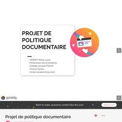 Projet de politique documentaire by marie-laure.vernet on Genial.ly